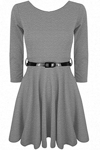 Oops Outlet Damen Skater-Kleid Grau Small