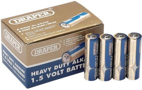 Draper 64248 Alkaline-Batterien, Typ AA Heavy Duty, 24 Stück