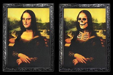 MAGICAPLANET Porträt umrahmt von der Mona Lisa (28,5 x 22,5 cm) - Umrahmt