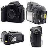 Kamera-Schutzhülle Silikon kompatibel fur Nikon D850 schwarz