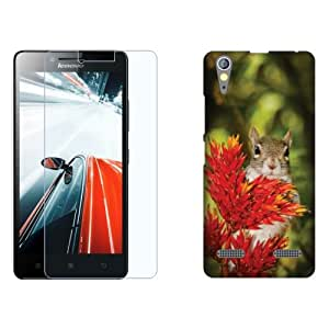 Design Worlds Flexible Tempered Glass + Back Cover Combo For Lenovo A6000 Plus
