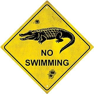 Selbstklebend Wandtattoo Laptop Macbook Panel Route Australien Krokodil No Swimming