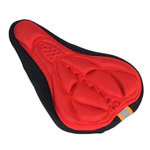 Hunpta Radfahren Fahrrad 3D Silikon Gel Pad Sitz Sattel decken Kissen (Rot C) (Sattel-pads Und Decken)