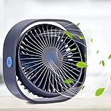 RenFox Ventilador USB Tres velocidades Mini Ventilador de Mesa Potente Silencioso y Ajustable...