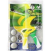 Cornilleau - Pack Duo Tacteo Brazil - 2 Raquettes + 3 Balles De Ping Pong Tennis De Table