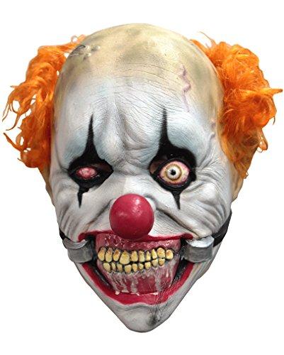 Verrückter Clown Latex-Maske mit Kieferklemme aus dem Zirkus des Grauens