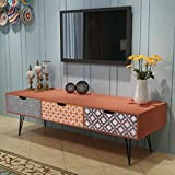 Festnight Mesa de Salón para la Televisión con 3 Cajones