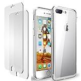 iPhone 7 Plus 8 Plus Hülle, iPhone 7 Plus 8 Plus Panzerglas, E-Unicorn Apple iPhone 7 Plus 8 Plus Hülle Silikon Transp