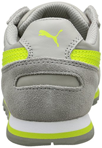Puma St Runner Nl Jr, Baskets Basses Mixte Enfant Gris (Limestone Grey/Lime Punch)