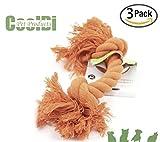 Pentaton Hundespielzeug Wurfspielzeug Baumwollspielzeug Baumwollknochen Spieltau für Hunde Hundespielzeug Spielseil aus Baumwolle geflochten zur Zahnreinigung 3er Pack