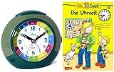 Atlanta Kinderwecker Ohne Ticken Grün mit Lernbuch Conni Buch Uhrzeit Lernen - 1678-6 BU
