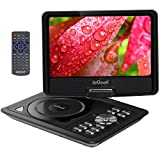 from ieGeek ieGeek 11.5 Portable DVD Player, 5 Hour Rechargeable Battery, 360LCD Eye Protection Swivel Screen, Supports SD Card and USB, Play in Formats CD/VCD/MP3/AVI/JPEG/MPEG2, Black Model HK969