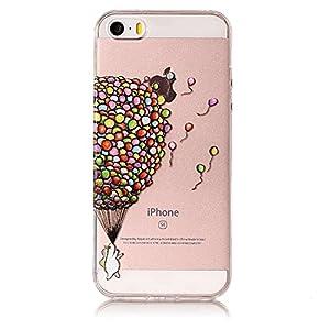 COZY HUT Liquid Crystal für iPhone 7 / iPhone 8 Hülle Transparent TPU Silikon Handyhülle Durchsichtig Schutzhülle Case…