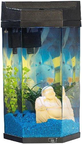 "infactory Säulen-Panorama-Aquarium ""Neptun"" im Komplett-Set, 7 Liter"