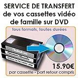 Cassettes vidéo tous formats sur DVD - 1 DVD
