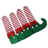 MagiDeal 4 Stück Stuhlsocken Stuhlbeinsocken Fußbodenschoner Möbel Tisch Socken Parkettschoner Bodenschutz für Weihnachten