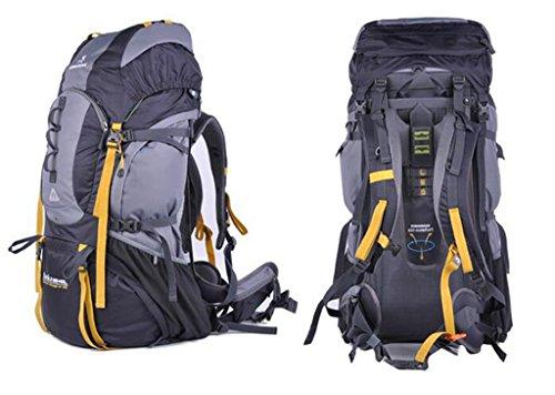zaino esterno sacchetto di alpinismo degli uomini borsa tracolla trekking zaino 75L professionale ( Colore : Blu , dimensioni : 65+10L ) Grigio
