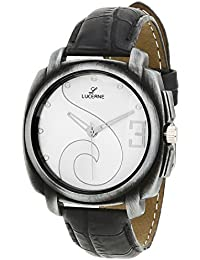 LUCERNE Analogue White Designer Printed Dial Black Leather Strap Casual Watch For Men A Modern Men Watch Gifts...