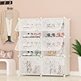 PREMAG Portable Shoe Storage Organizer Tower, Weiß mit Transparenten Türen, Modular Cabinet Regale für platzsparende, Schuhregal Regale für Schuhe, Stiefel, Hausschuhe 2 * 5