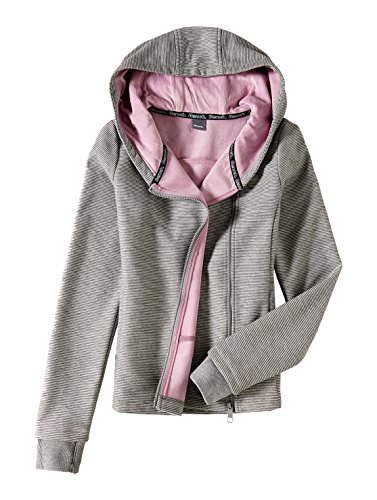 Bench Sweatjacke mit Pannesamt-Futter Summer Grey Marl XL