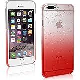 Coque iPhone 7 Plus 5.5, Sunroyal® TPU Transparent Raindrop Etui Housse Silicone Doux Ultra Mince Case Cover Shock-Absorption Bumper Protection pour Apple iPhone 7 Plus (5.5 Pouces) 2016 - Rouge