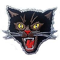 Black Cat gritando Rockabilly Horror Tattoo Goth Punk Rock–Parche