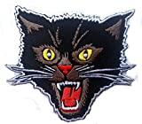 Black Cat gritando Rockabilly Horror Tattoo Goth Punk Rock – Parche