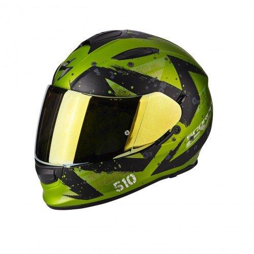 Scorpion Casco moto EXO-510 AIR MARCUS Opaco Verde-Nero L