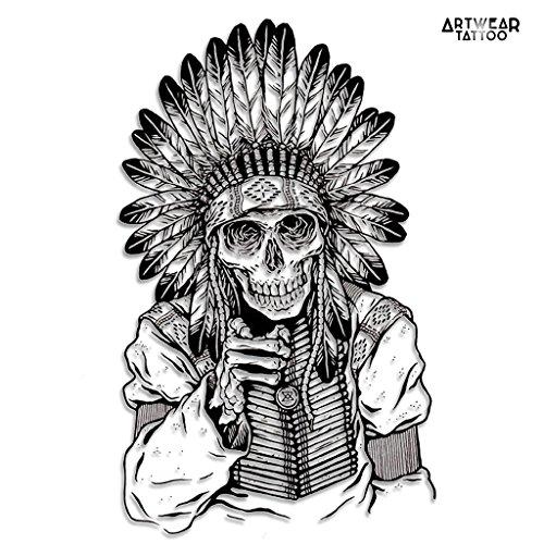 tatuaje-temporal-i-want-you-indian-skull-artwear-tattoo-b9919-m