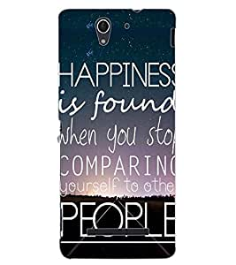ColourCraft Quote Design Back Case Cover for SONY XPERIA C3 D2533