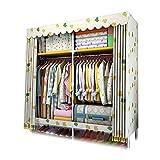 XIAONUA Kleiderschrank-Kleiderschrank-Tragbare Kleidung, Schrank-Speicher-Organisator-Regale hängend, schnell und einfach zusammenzubauen,A_58.2x17.7x66.9inch
