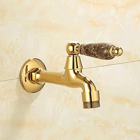 QNQA nach europäischen stil von jade, kupfer - bad, wasserleitungen, waschmaschine, hahn 6 mund, dr. siemens (Land Badezimmer-hahn-)