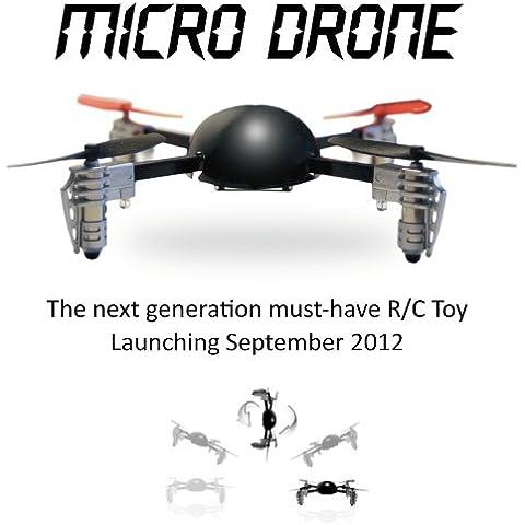 Mando a distancia vuelo cuadricóptero mini microdrone - Negro