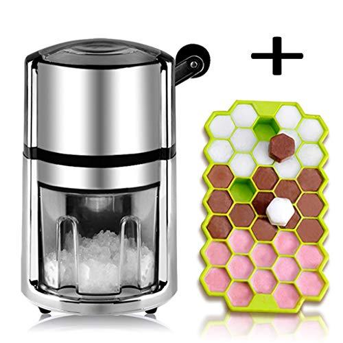 DZWSD Eiscrusher aus Edelstahl - Cocktail-Eiscrusher von, manueller Eiscrusher für den häuslichen Gebrauch - ideal für köstliches, rasiertes EIS (Schnee Kegel Maschinen Für Kinder)