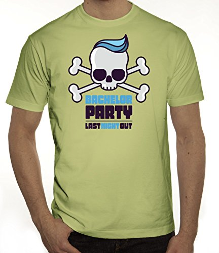 Junggesellenabschieds JGA Hochzeit Herren T-Shirt Skull - Bachelor Party Limone