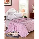 Dngy*Tencel colcha de verano simple o doble impresión reactiva fresco en el verano fresco colcha edredón completo Set , ropa de cama