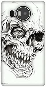 The Racoon Grip Skulls hard plastic printed back case / cover for Microsoft Lumia 950 XL