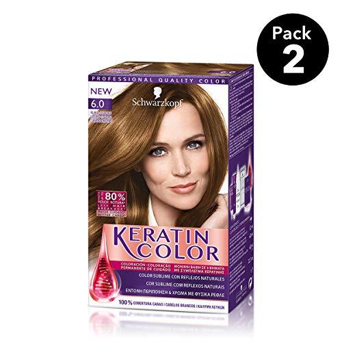 Keratin Color Schwarzkopf - Tono 6.0 Rubio Oscuro