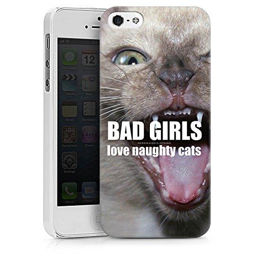Apple iPhone X Silikon Hülle Case Schutzhülle Katze Cat Mädchen Hard Case weiß
