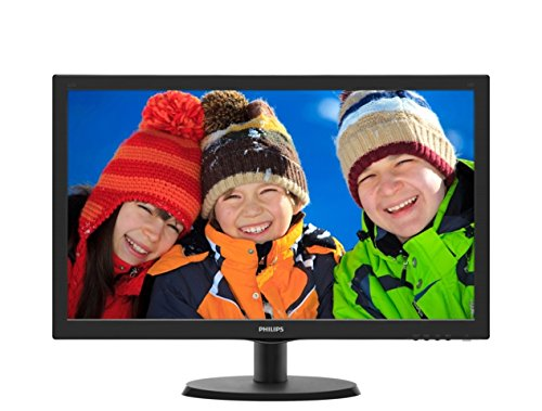 Philips Monitor 223V5LHSB2 Monitor per PC Desktop 21,5' LED, Full HD, 1920 x 1080, 5 ms, HDMI, VGA, Attacco VESA, Nero