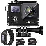 YDI G80 4K 20MP Action Cam Impermeabile WiFi Doppio Schermo Sport Camera Gyro Anti Shake Videocamera con Telecomando e 2 * 1050mAh Batterie