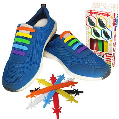 b3b56154ecdef Cordones Elasticos Gomas ☆ Cordón Elasticas Zapatillas de Silicona para  Halar y Bloquear Fácilmente ☆ Perfecto