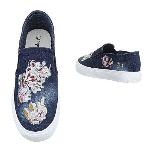 Sneakers Ital-design Basse Sneakers Da Donna Sneakers Basse Scarpe Casual Blue 2503