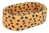 Katzenbett, Katzenkissen, Katzenkorb Dream Style L - 70x45x22cm - braun mit Tatzen