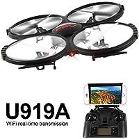 2.0mp WiFi U919A 2,4 G RC FPV tanto Quadcopter Drone y Cámara de vídeo HD mattheytoys UDI 4 Axis gyro casa sin cabeza y el modo de FPV for Button Wi - Fi Apple Studio androi
