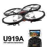 2.0MP WIFI U919A FPV de 2,4 G également Quadcopter RC Drone et vidéo HD Mattheytoys Udi salle 4 du gyroscope à axe la maison sans tête de mode et de fpv for button WIFI pomme studio de roche