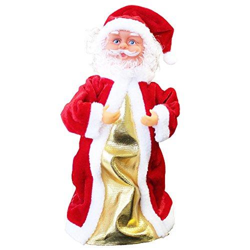 Babbo natale che canta e balla 30cm decorazione natalizia personaggio natalizio santa claus