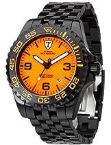 Detomaso San Marino Herren-Armbanduhr  schwarz/orange Ø 45 mm