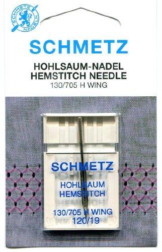 Schmetz Agujas de con vainica-2tamaños, 120/19 (Thickest)