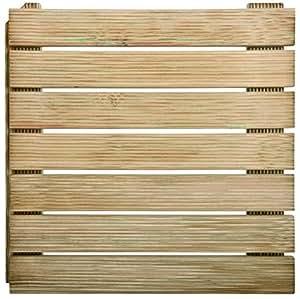 Dalle de terrasse en bois autobloquante 50